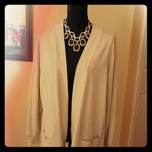 Gold cardigan sweater